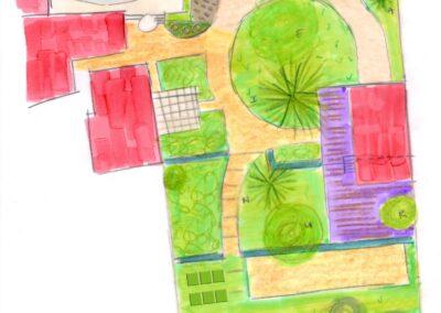 esquisse jardin