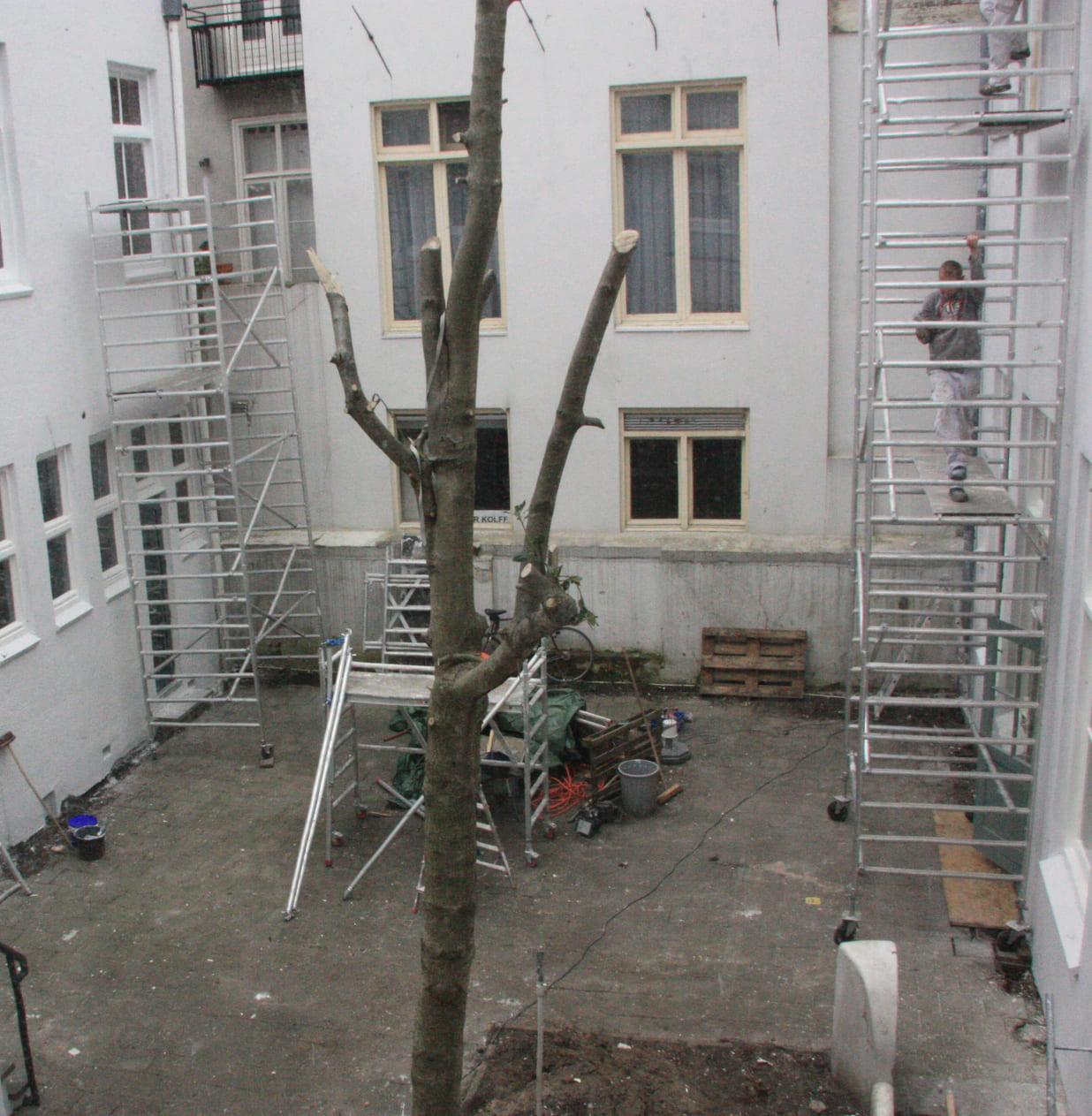 Patio de la galerie Droog avant travaux