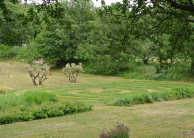 Jardin paysager - spirale végétale -